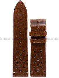 Pasek skórzany do zegarka Bisset BSCE63 - ABP/E63-D.Brown - 24 mm