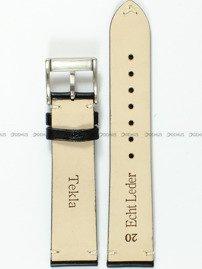 Pasek skórzany do zegarka - Tekla PT47.20.1.7 - 20 mm