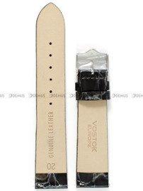 Pasek skórzany do zegarka Vostok Rocket N-1 Lady YT57-2235162 - 20 mm czarny perłowy