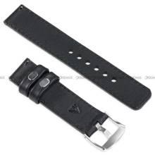 Pasek skórzany do zegarka lub smartwatcha - moVear WQU0C01GP00SLBM18BK - 18 mm