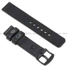 Pasek skórzany do zegarka lub smartwatcha - moVear WQU0C01RE00BKMM22BK - 22 mm