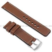Pasek skórzany do zegarka lub smartwatcha - moVear WQU0C01SL00SLBM22B2 - 22 mm