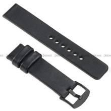 Pasek skórzany do zegarka lub smartwatcha - moVear WQU0S010000BKMM20BK - 20 mm