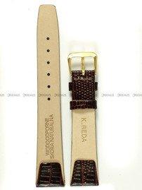 Pasek zaczepowy klejony skórzany do zegarka - K.Reda.3.18.2 - 18 mm
