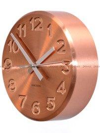 Zegar ścienny Karlsson Bold Engraved Numbers Steel Copper KA5477CO