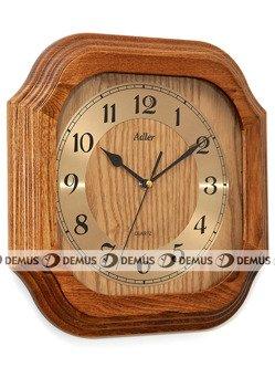 Zegar ścienny drewniany złoty cyferblat czarne wskazówki 21149-CD