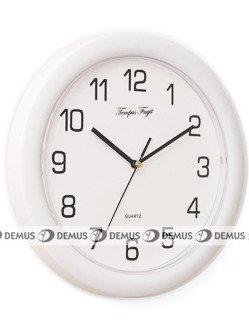 Zegar ścienny plastikowy w kolorze białym PW234