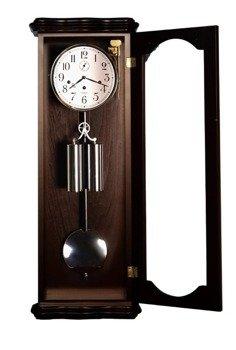 Zegar wiszący mechaniczny TOMEK-SILVER-W