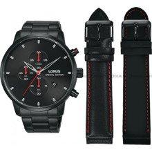 Zegarek Męski Lorus Chronograph RM329FX9 - W zestawie dodatkowe paski